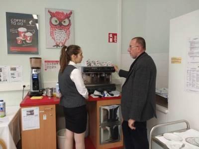 Handhabung der Espressomaschine