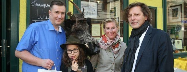 v.l.: Lena und Herbert Hausmair, Christina Schlosser und Thomas Blimlinger