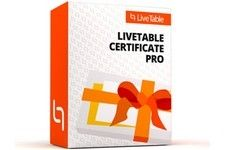 Live Table Certificate Pro