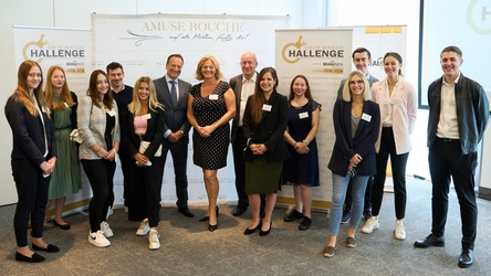 v.l.n.r. Martin Lachout, Piroska Payer, Dieter Fenz bei der offiziellen Eröffnung der Amuse Bouche Challenge