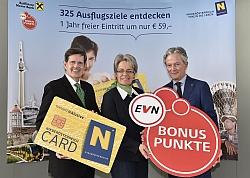 v.l.: Christoph Madl, MAS, Dr. Petra Bohuslav und DI Dr. Peter Layr (EVN)