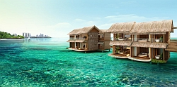 Over the water villas