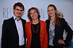 Team Reisesalon: Thomas Reischer, Christina Neumeister-Böck, Ricarda Matousek