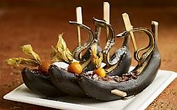 Bananenschiffchen mit Schokolade