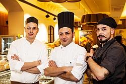Vincenzo De Liso (Mitte) mit seinem Team