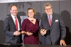 v.l.: Dr.Markus Miele, Mag. Sandra Kolleth und Dr. Reinhard Zinkann (c)Miele